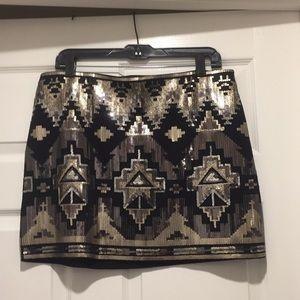 Express sequined mini skirt like new